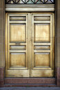 Brass Bank Doors Stock Images
