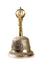 Brass bell beautiful craftsmanship on Royalty Free Stock Photography
