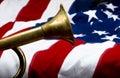 Brass Bugle. Royalty Free Stock Photo