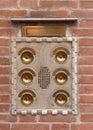 Brass door bells Royalty Free Stock Photo