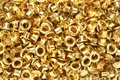 Brass eyelets Royalty Free Stock Photo