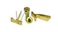 Brass fastener Stock Images