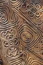 Brass filigree art of background Stock Photos