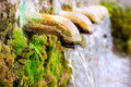 Brass fountain water source spring Royalty Free Stock Photos