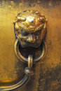Brass knob ancient made of china Stock Image