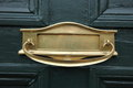 Brass letterbox Royalty Free Stock Photo