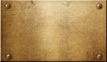 Brass metal plate Royalty Free Stock Photo