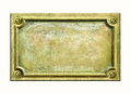 Brass plaque Royalty Free Stock Images