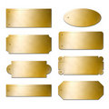 Brass plates Royalty Free Stock Photo