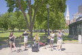 Brass Quintet at park Stock Photo