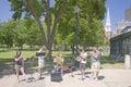 Brass Quintet at park Stock Photo