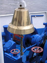 Brass ship bell Stock Image