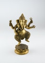 Brass statue indian god lord ganesh Stock Photo