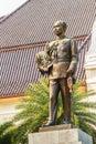 The brass statue of King Chulalongkorn Rama V at Phra Ramratch