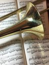 Brass Trombone and classical music 9 Royalty Free Stock Photo