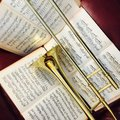 Brass Trombone and classical music 10 Royalty Free Stock Photo