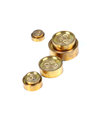 Brass weights beautiful shot of on white background Royalty Free Stock Image