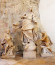 Bratislava baroque statue of immaculate in gothic st john the evangelist chapel beside of franciscan church slovakia february Royalty Free Stock Photo