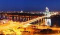 Bratislava most v noci