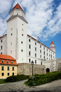 Bratislava capital city castle Royalty Free Stock Images
