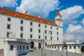 Bratislava castle on bright sunny day