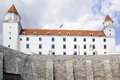 Bratislava castle of the capital of slovakia Stock Images