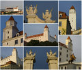 Bratislava Castle, collage Royalty Free Stock Photo