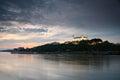 Bratislava castle and river Danube.