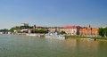 Bratislava castle river dunabe slovakia Stock Images