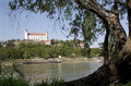 Bratislava - castle from riverside Royalty Free Stock Photos