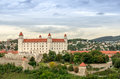 Bratislava castle slovakia medieval in the slovak capital Stock Photo