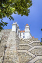 Bratislava castle slovakia stairs to the Royalty Free Stock Photography