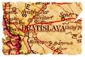 Bratislava staré mapy
