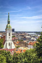 Bratislava skyline on a sunny day slovakia Royalty Free Stock Photos