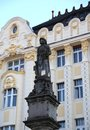 Bratislava in Slovakia Ancient statue in the main square of the