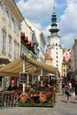 Bratislava slovakia august people visit old town on august in slovakia is the most populous and most visited Royalty Free Stock Image