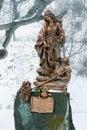 Bratislava, Slovakia - January 24th, 2016: Statue of St. Elizabe