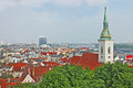 Bratislava, Slovakia, top view
