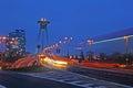 Bratislava traffic at dusk
