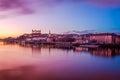 Bratislava at twilight panorama