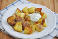 Bratkartoffeln, German Roast Potatoes Stock Photos
