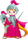 The Brave Knight on the horse Royalty Free Stock Images