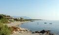Bravone beach in Corsica Royalty Free Stock Photo
