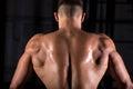 Brawny bodybuilder guy back Royalty Free Stock Photo