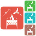 Brazier, zephyr and sausage icon