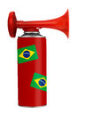 Brazil air horn - soccer, football etc. Royalty Free Stock Photo