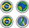 Brazil Buttons Royalty Free Stock Photo