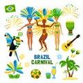 Brazil Carnival Icon Set