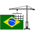 Brazil in construction Stock Image