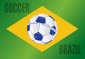 Brazil country soccer flag illustration design background Stock Photo